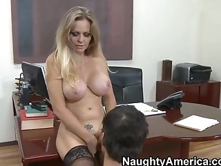 Big Tits, Blonde, Dyanna Lauren, Facial, HD, Mature, Stockings, Teacher,