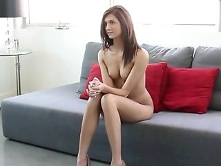 Innocent, Money, Office, Posing, Pussy, Reality, Redhead, Skinny, Spreading, Teen,