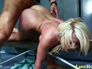 Big Tits, Blonde, Blowjob, HD, Locker Room, Madison Ivy, Pornstar,