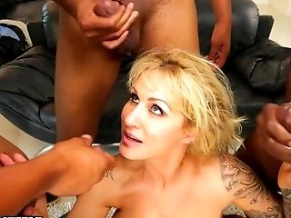All Holes, Big Black Cock, Big Tits, Blonde, Blowjob, Bobcat, Cougar, Cum, Cumshot, Deepthroat,