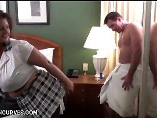 BBW, Big Natural Tits, Big Tits, Boss, HD, Mature, Pornstar, Shower,