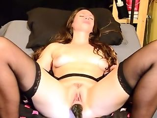 Brunette, Fucking Machine, Masturbation, Webcam,