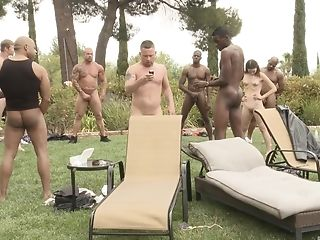 Amber Rayne, Dame, Ondeugende, Gangbang, Hardcore, Interraciale, Outdoor,