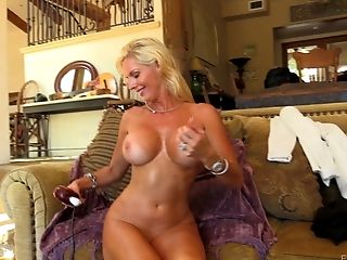 Big Tits, Blonde, Bobcat, Fake Tits, Jerking, MILF, Model, Solo, Striptease,