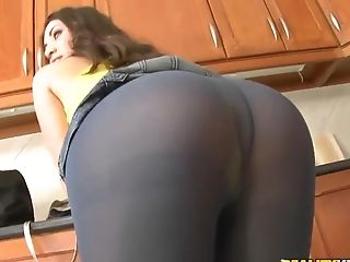 Anal Sex, Blowjob, Brunette, Choking Sex, Cute, French, HD, Kitchen, Sexy, Stockings,