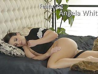 Angela White, жопа, большие натуральные сиськи, большие сиськи, минет, лысый, сапоги, брюнетки, Cowgirl, кончает на грудь,