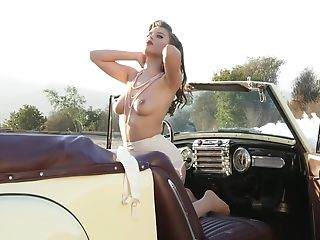 Babe, Blonde, Car, Erotic, HD, Makeup, Masturbation, Moaning, Model, Outdoor,