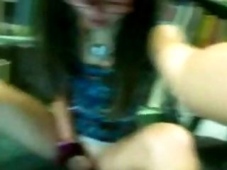 Fingering, Jerking, Librarian, Public, Solo, Teen, Young,