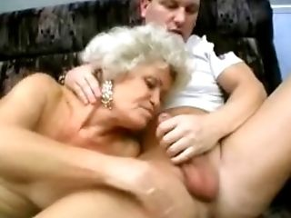 Blowjob, Dick, Granny, Mature, Threesome,