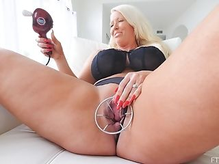 Blonde, Cute, Insertion, Jerking, Long Hair, Masturbation, MILF, Model, Sex Toys, Solo,