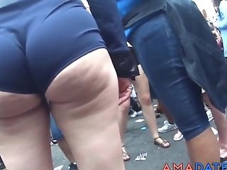 Big Ass, Outdoor, Public, Street, Voyeur,