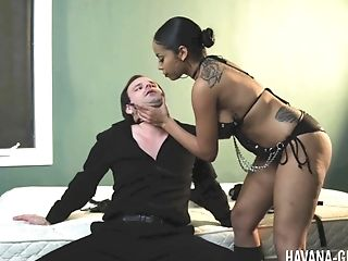 Black, Brutal, Couple, Femdom, Fetish, Hardcore, Havana Ginger, Interracial, Lingerie, Pegging,