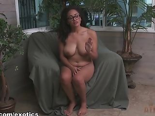 Babe, Big Tits, Black, Casting, Exotic, Julie Kay, Pornstar, Softcore, Solo,