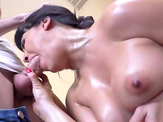 Beauty, Big Ass, Big Tits, Blowjob, Boy, Brunette, Cowgirl, Creampie, Desk, Doggystyle,