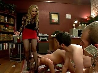 Aiden Starr, CFNM, Clothed Sex, Femdom, Humiliation, Maitresse Madeline,