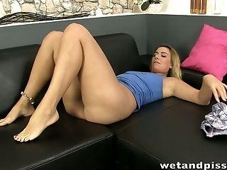 Babe, Blonde, Clit, Fondling, Legs, Sexy, Slut, Solo,