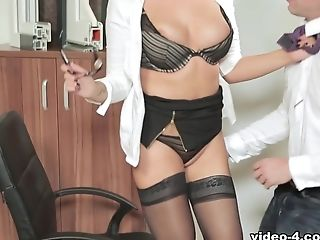 Amazing, Anna Polina, Big Ass, Big Tits, Blonde, Ethnic, Pornstar, Redhead, Secretary, Stockings,