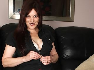 Couch, Horny, Housewife, Mature, Mom, Pussy,