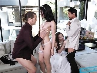 69, Ass Licking, Blowjob, Bold, Bride, Cheating, Cowgirl, Creampie, Foursome, Group Sex,