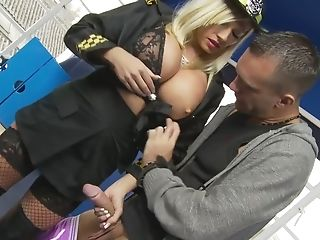 Big Tits, Blonde, Blowjob, Bra, Clothed Sex, Couple, Dick, Fake Tits, Fishnet, Hardcore,