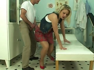 Blonde, Clothed Sex, Couple, Cowgirl, Doctor, Doggystyle, Fingering, Fucking, Hardcore, High Heels,