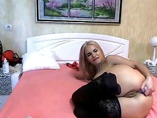 Anal Sex, Anal Toying, Ass, Blonde, Cute, Game, Jerking, Lingerie, Moaning, Natural Tits,