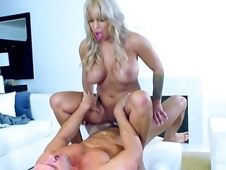 Big Ass, Big Tits, Blonde, Blowjob, Bodystocking, Cougar, Cum In Mouth, Cum Swallowing, Cumshot, Doggystyle,