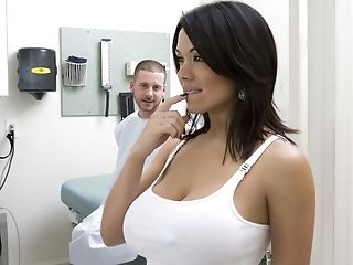 Big Tits, Brunette, Clinic, Doctor, From Behind, Moaning, Sienna West,