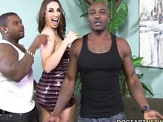 Big Ass, Big Black Cock, Big Cock, Blowjob, Deepthroat, Double Penetration, Face Fucking, Gagging, Hardcore, HD,