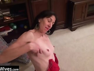 Brutal, Jerking, Mature, Old, Pussy, Sex Toys, Wife,