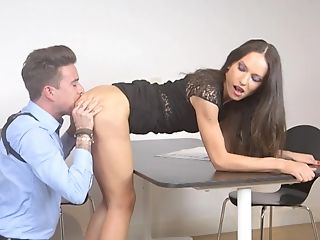 Babe, Cop, Cum On Ass, Cumshot, Desk, Doggystyle, Hardcore, HD, Nataly Gold, Office,